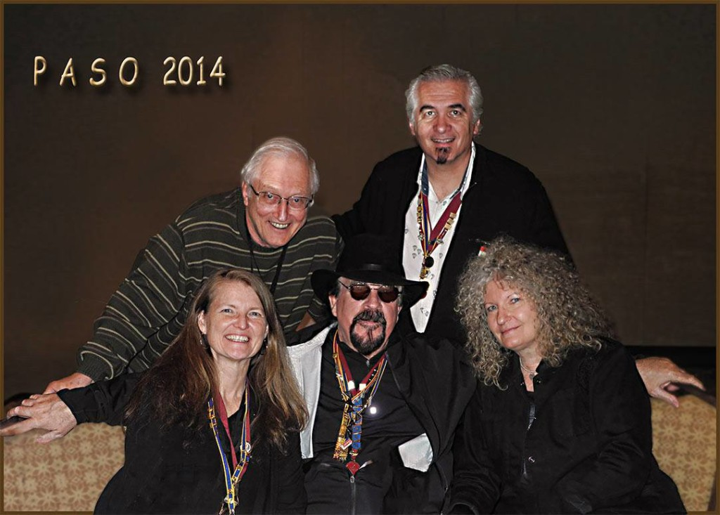 Back L-R: Robert Kunesh, Milovan Andonov. Front l-R: Christine Walsh-Newton, Robert Hughes, Elaine Hughes.