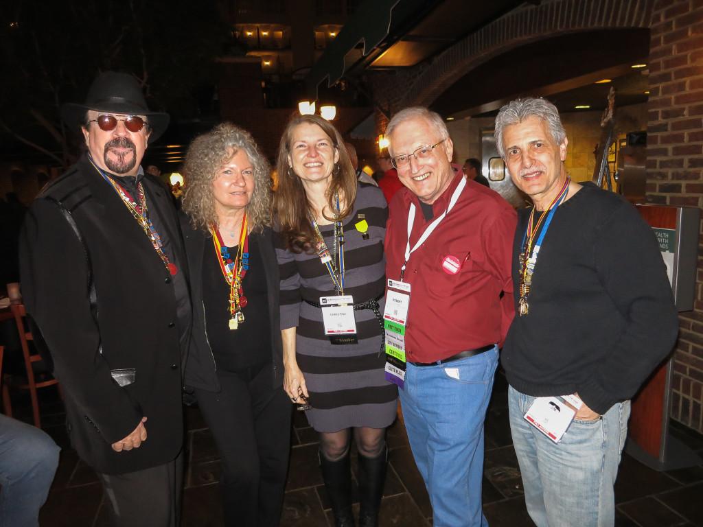 L-R: Robert Hughes, Elaine Hughes, Christine Walsh-Newton, Robert Kunesh, Jim LaSala. Photo courtesy: Paul Bernstein